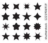 set of different shape stars... | Shutterstock .eps vector #1221906919