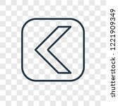 left arrow concept vector... | Shutterstock .eps vector #1221909349