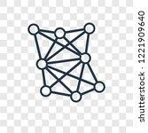algorithm concept vector linear ... | Shutterstock .eps vector #1221909640