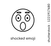 shocked emoji icon. trendy... | Shutterstock .eps vector #1221917680