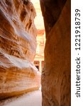 the siq is the ancient main... | Shutterstock . vector #1221918739