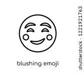 blushing emoji icon. trendy... | Shutterstock .eps vector #1221921763