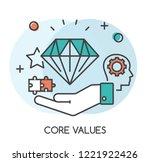 core values concept flat design.... | Shutterstock .eps vector #1221922426