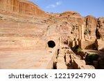 petra  jordan. tombs and... | Shutterstock . vector #1221924790