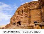 petra  jordan. tombs and... | Shutterstock . vector #1221924820