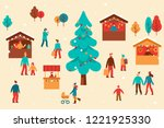 vector illustration in flat... | Shutterstock .eps vector #1221925330