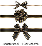 set of decorative black bows... | Shutterstock .eps vector #1221926596