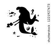 sea silhouette composition.... | Shutterstock .eps vector #1221927673