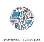 vector circle composition of... | Shutterstock .eps vector #1221931156