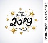2019 hand written lettering... | Shutterstock .eps vector #1221936730