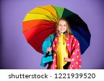 kid girl happy hold colorful... | Shutterstock . vector #1221939520