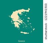 vector map of greece | Shutterstock .eps vector #1221941503