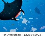 environmental banner plastic... | Shutterstock .eps vector #1221941926