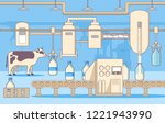 milk factory production... | Shutterstock .eps vector #1221943990