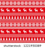 new year's christmas pattern... | Shutterstock .eps vector #1221950389