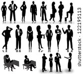 business people silhouettes...   Shutterstock .eps vector #122195113