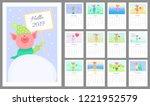 vector monthly calendar for... | Shutterstock .eps vector #1221952579