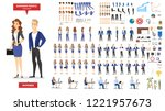 businessman and woman character ... | Shutterstock .eps vector #1221957673