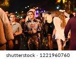 los angeles   october 31 ...   Shutterstock . vector #1221960760