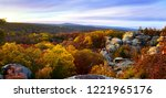 Garden Of The Gods Camel Rock Panoramic View - stock photo