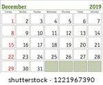 simple digital calendar for... | Shutterstock .eps vector #1221967390
