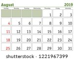 simple digital calendar for... | Shutterstock .eps vector #1221967399