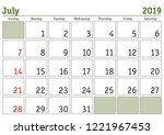 simple digital calendar for... | Shutterstock .eps vector #1221967453