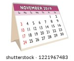 2019 november month in a desk... | Shutterstock .eps vector #1221967483