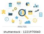 data analysis concept. idea of... | Shutterstock .eps vector #1221970060