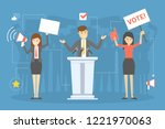 election campaign concept.... | Shutterstock .eps vector #1221970063