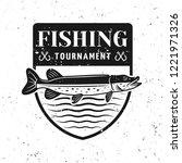 fishing tournament vector badge ... | Shutterstock .eps vector #1221971326