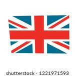 british flag vector... | Shutterstock .eps vector #1221971593
