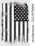 grunge american flag.vector... | Shutterstock .eps vector #1221979009