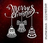 merry christmas design text for ... | Shutterstock .eps vector #1221985549