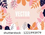 vector illustration in trendy... | Shutterstock .eps vector #1221993979