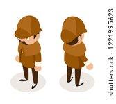 detective gentleman isometric... | Shutterstock .eps vector #1221995623