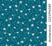 seamless vector pattern with... | Shutterstock .eps vector #1221996589