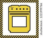 stove sign. vector. warm yellow ... | Shutterstock .eps vector #1221999766