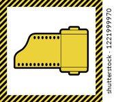 old photo camera casset sign.... | Shutterstock .eps vector #1221999970