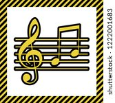 music violin clef sign. g clef... | Shutterstock .eps vector #1222001683