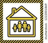 family sign illustration.... | Shutterstock .eps vector #1222001869