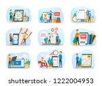 online service set. people... | Shutterstock .eps vector #1222004953
