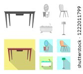 vector design of furniture and... | Shutterstock .eps vector #1222011799
