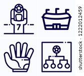 simple set of 4 icons related... | Shutterstock .eps vector #1222012459