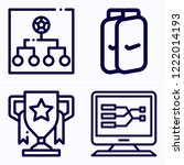 simple set of 4 icons related... | Shutterstock .eps vector #1222014193