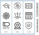 simple set of  9 outline icons...   Shutterstock .eps vector #1222018633