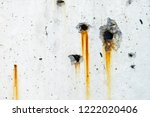drip of rust  old concrete wall ... | Shutterstock . vector #1222020406