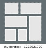 blank postage stamp. a set of... | Shutterstock .eps vector #1222021720
