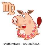 vector illustration of a cute...   Shutterstock .eps vector #1222024366