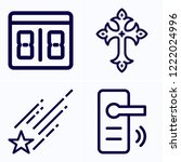 simple set of 4 icons related... | Shutterstock .eps vector #1222024996